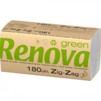 Servilletas pasta reciclada Zig-Zag RENOVA   updirecto.es